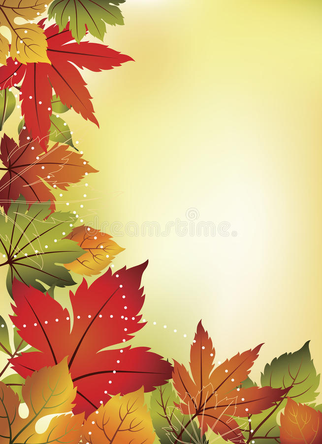 Download Fall Leaves Background stock illustration. Image of abstract - 21059874