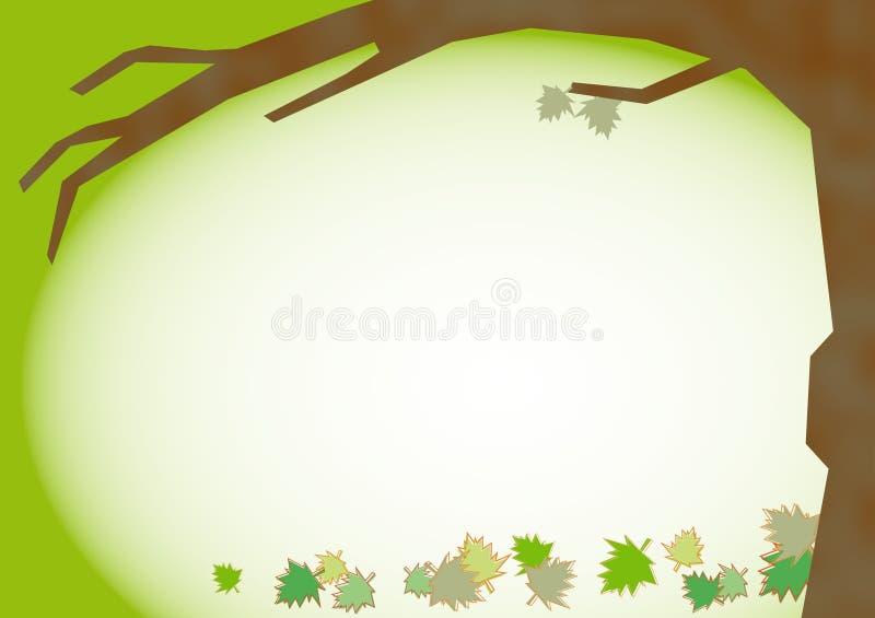 Fall Leaves Background. Fall leaves border background design stock illustration