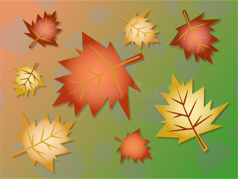 Fall leaves background stock illustration