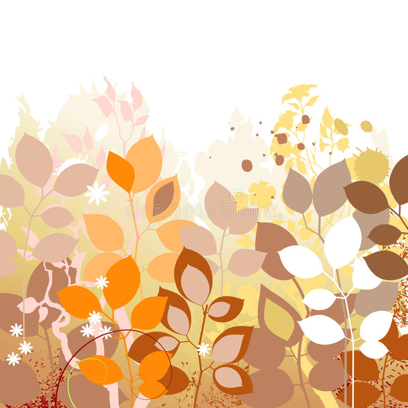 Fall leaves background. Autumn in foliage colors royalty free illustration