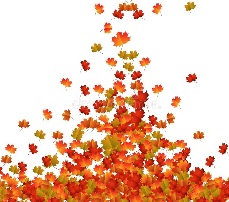 Fall Leaves Background royalty free illustration