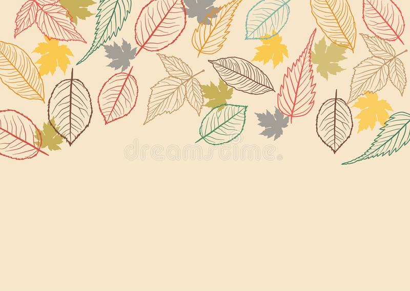 Fall Leaves Background. Vector Illustration of an Autumn Design royalty free illustration