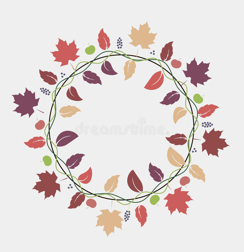 Fall leaves background. Vector illustration of fall leaves decoration stock illustration