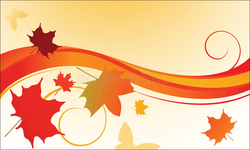 Fall Leaves Blowing In The Wind Stock Vector Illustration Of Coil Decorate 10636518