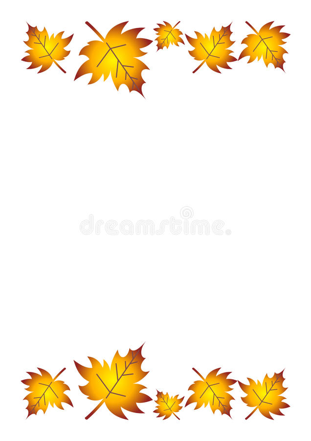 Fall Leaves Border Royalty Free Stock Photography - Image ...