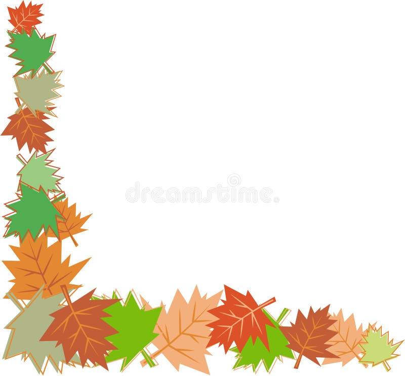 Fall leaves border vector illustration