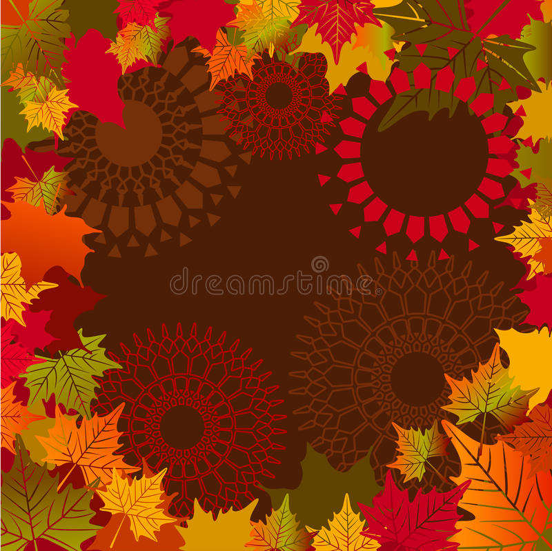 Download Fall leaves border stock vector. Image of graphic, lacy - 26132152