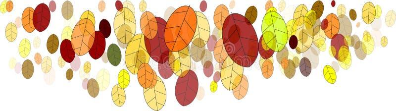 Fall leaves-illustration. Colorful fall leaves on white background-illustration vector illustration