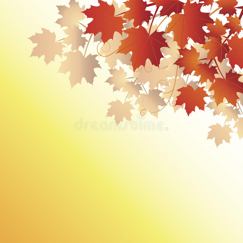 Download Fall Leaves On Orange Background Stock Vector - Image: 10582277