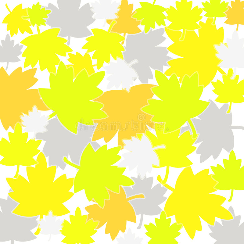 Fall leaves pattern. Different colored fall leaves pattern vector illustration