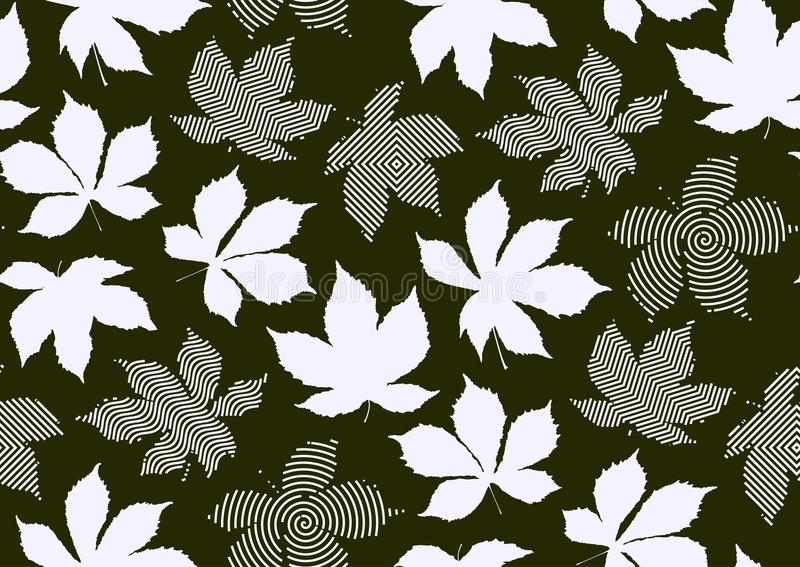 Fall leaves seamless pattern. Vector illustration for stylish background, textile, wrapping paper design. Fall leaves seamless pattern. Vector illustration for vector illustration