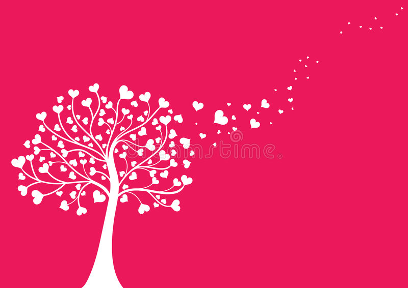 Fall in Liebe lizenzfreie abbildung