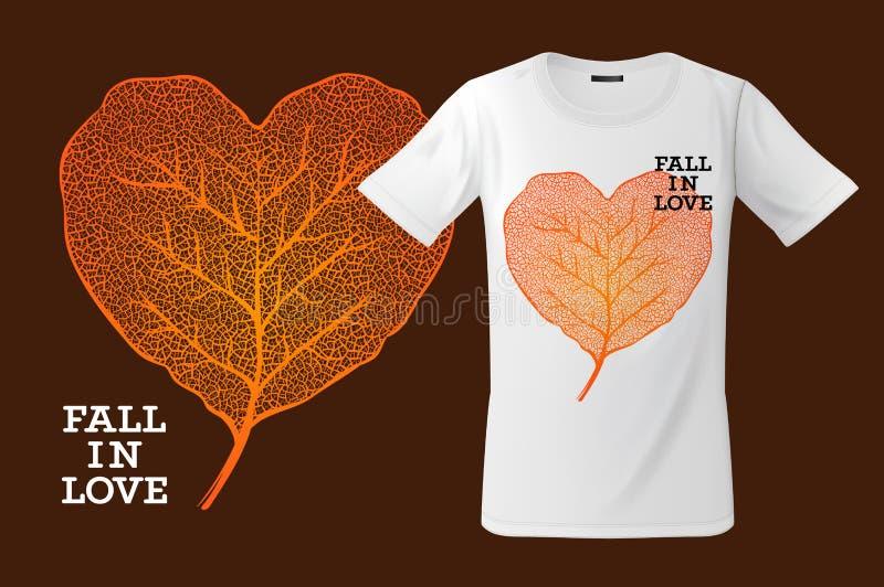 Fall in Liebe Drucken Sie auf T-Shirt, Sweatshirts und Andenken und anderer Gebrauch, Vektorillustration vektor abbildung