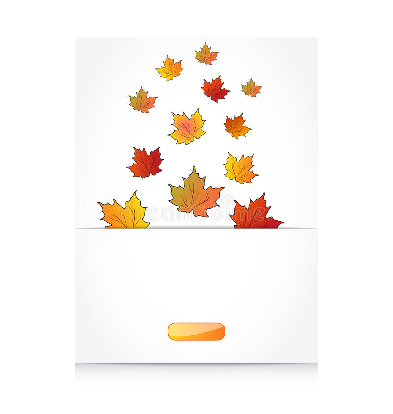 Fall maple leaves, autumn background. Illustration fall maple leaves, autumn background - vector vector illustration