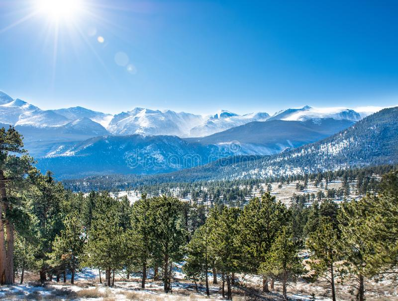 Beautifu autumn landscape in Colorado. royalty free stock images