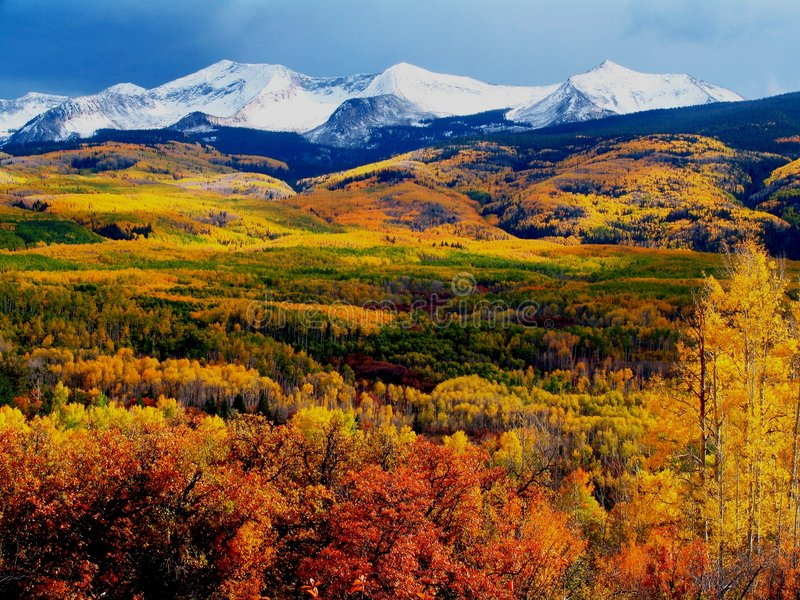 Download Kebler Pass Fall Mountains stock photo. Image of nature - 28206