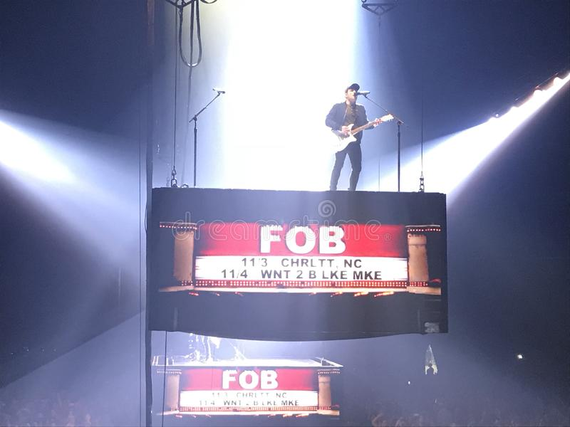 Fall Out Boy-Overleg stock fotografie