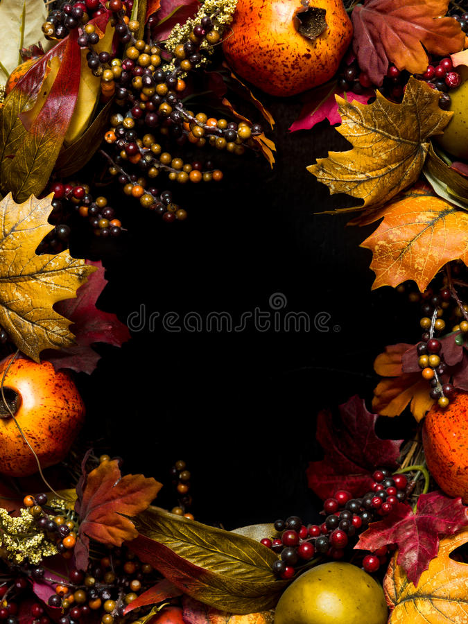 Download Fall oval border wreath stock photo. Image of leaves - 27295488