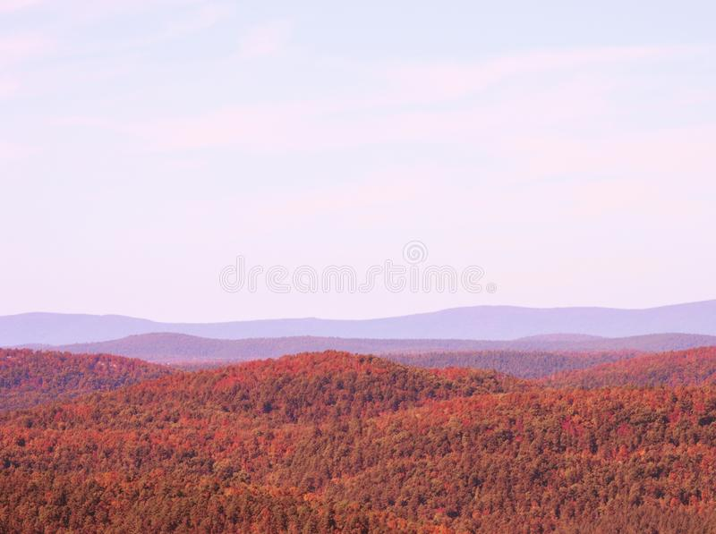 Fall in the ozarks stock image