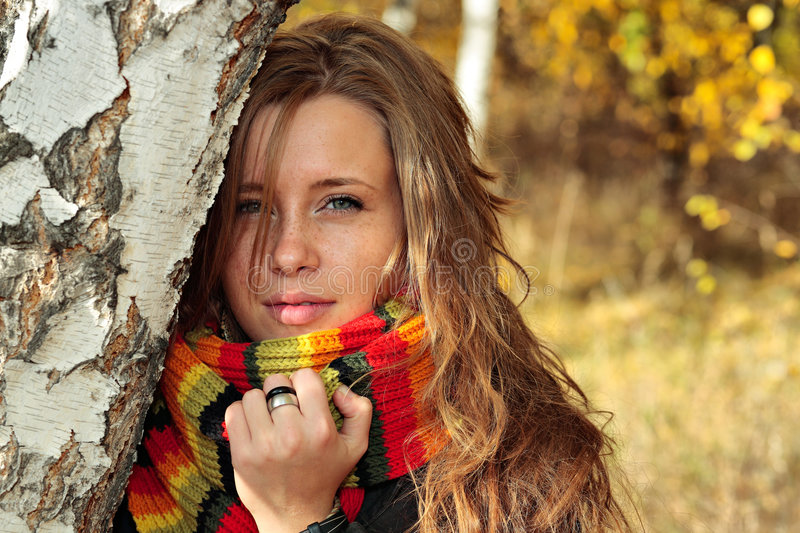 Download Fall park stock photo. Image of nature, lying, girl, leafed - 6666352