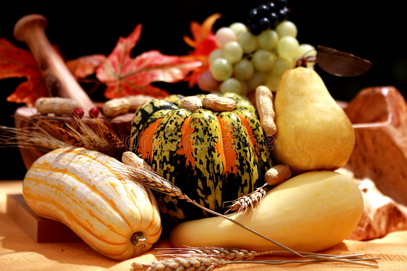 Download Fall pears and pumpkins stock image. Image of garden, corn - 6478491