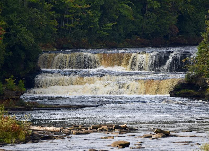 North Falls. This is a Fall picture of the North Falls of the Lower Tahquamenon River in Tahquamenon Falls State Park located in Paradise, Michigan in Chippewa royalty free stock photo
