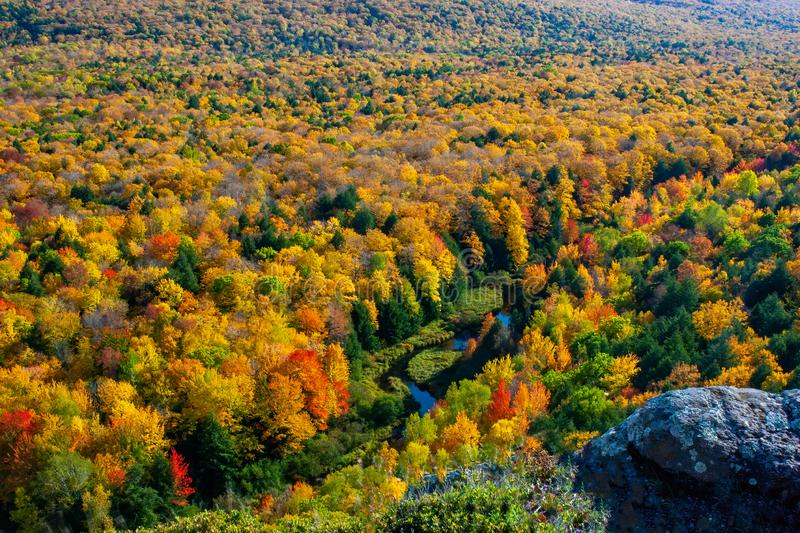 Fall in the Porcupine Mountains royalty free stock images