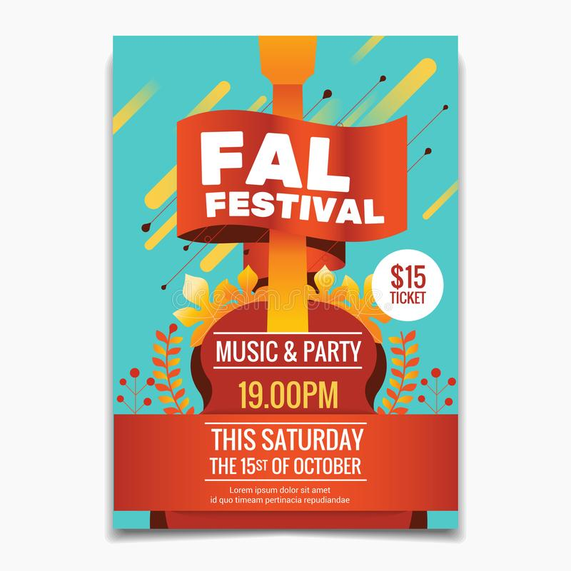 fall festival flyer template stock vector