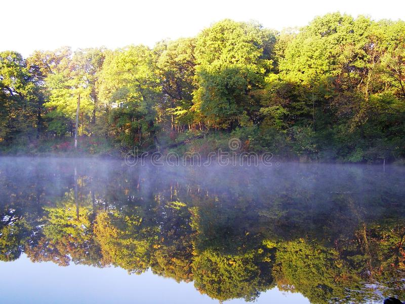 Download Fall Reflection stock image. Image of illinois, mist - 11365441