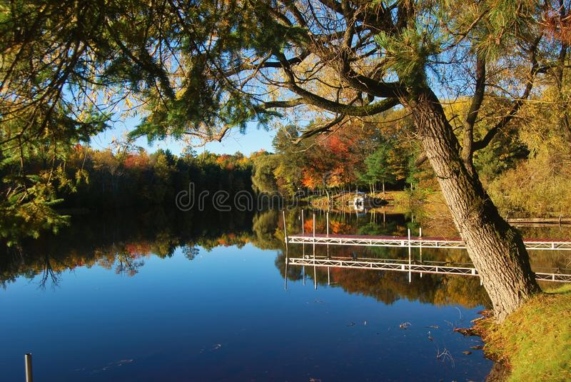 Fall on the river royalty free stock photos