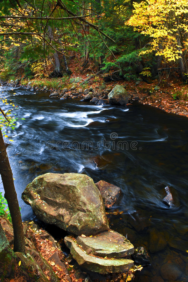 Free Fall River Landscape Stock Photography - 5379902