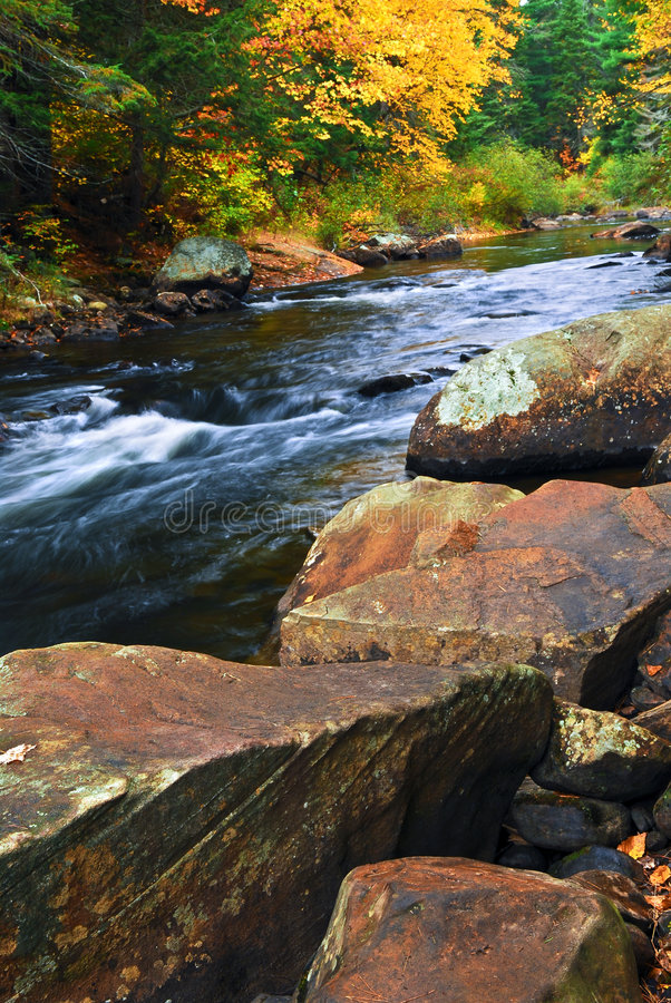 Free Fall River Landscape Stock Images - 5504164