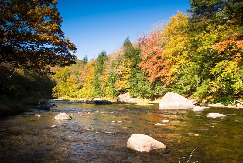 Fall river scenery stock photos