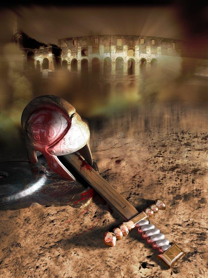 Fall of Roman empire stock illustration