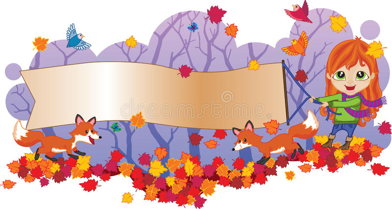 Fall Sale Banner royalty free illustration