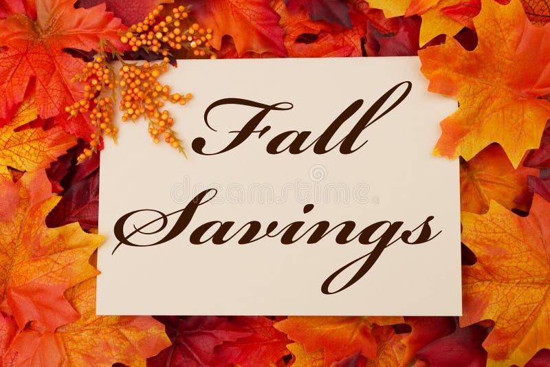 Fall Savings royalty free stock image