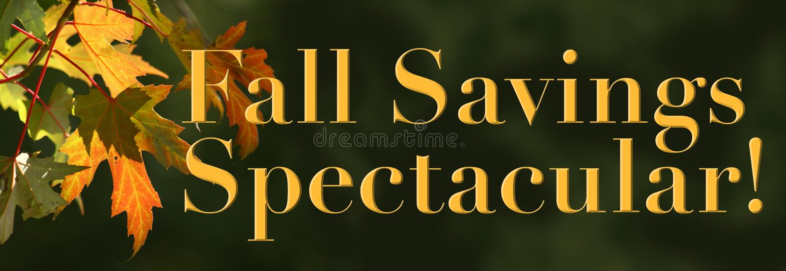 Fall Savings Spectacular! royalty free stock photos