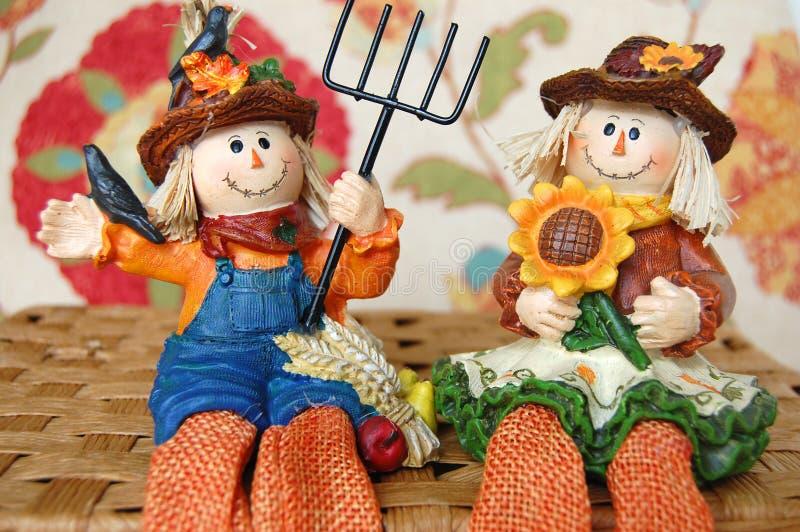 Fall Scarecrow Couple royalty free stock photos