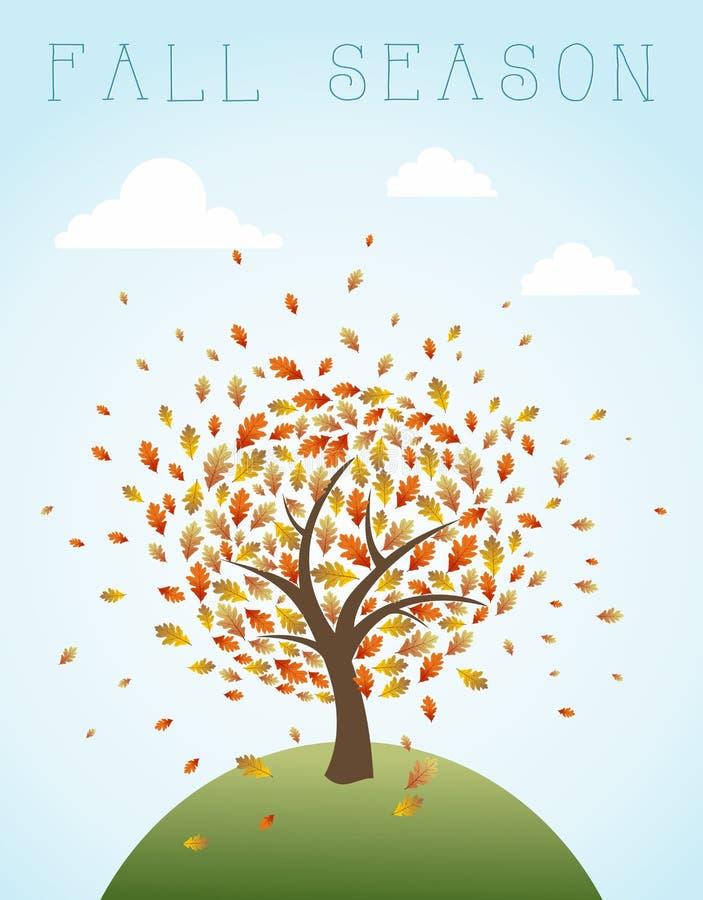 Fall season vintage global composition illustratio royalty free stock photos