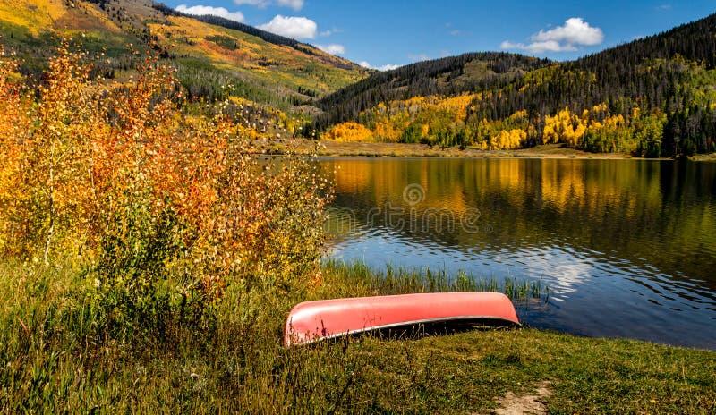 Fall in Steamboat Springs Colorado stockfotos