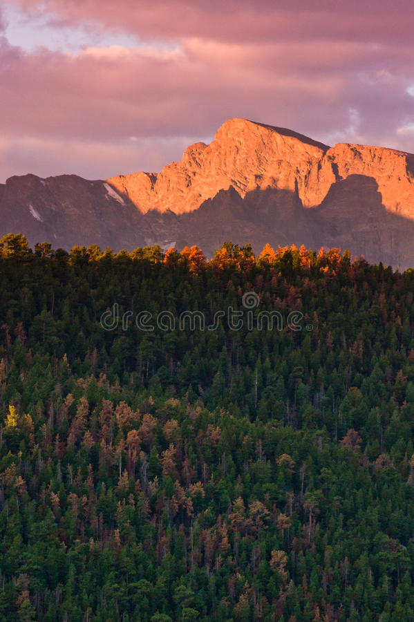 Download Fall Sunrise Over The Rocky Mountains Stock Image - Image: 17875063