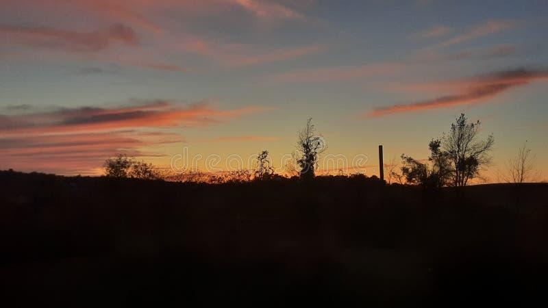Fall sunset upstate New York stock photography