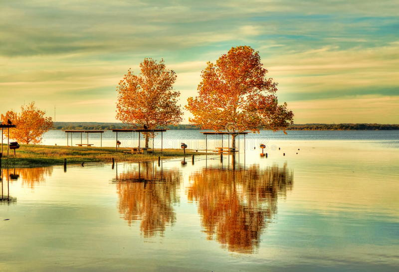 Fall in Texas stock photography
