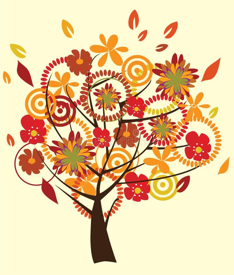 Download Fall tree stock vector. Image of season, brown, forest - 16414403