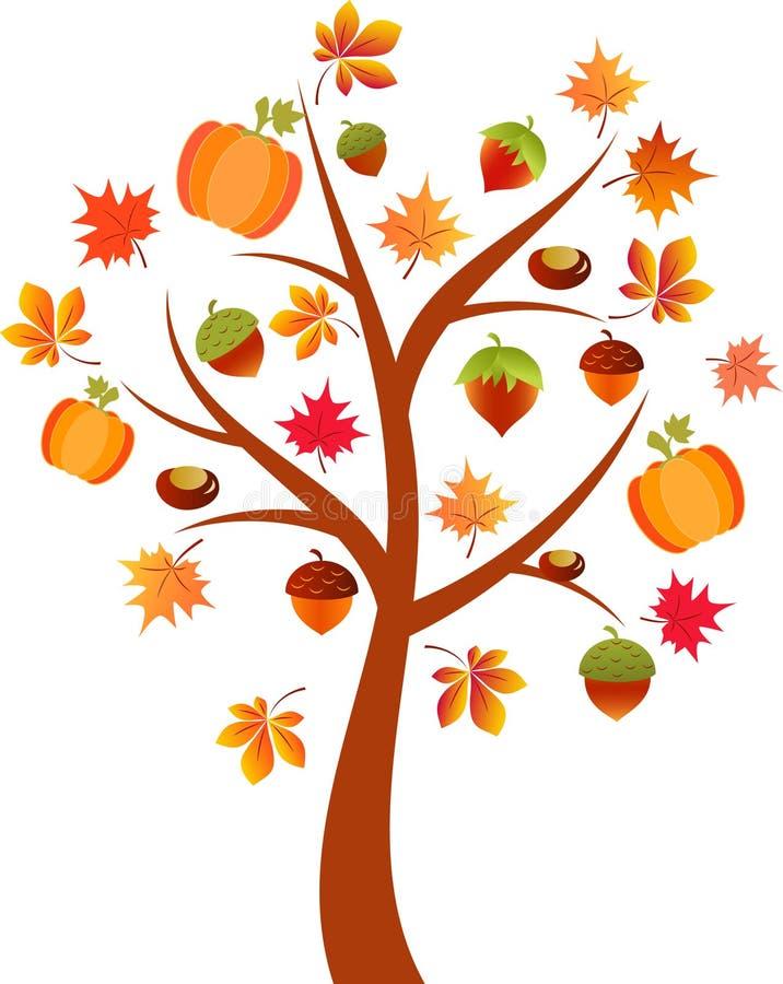 Fall Tree Illustration, Acorn Tree Stock Illustration ...