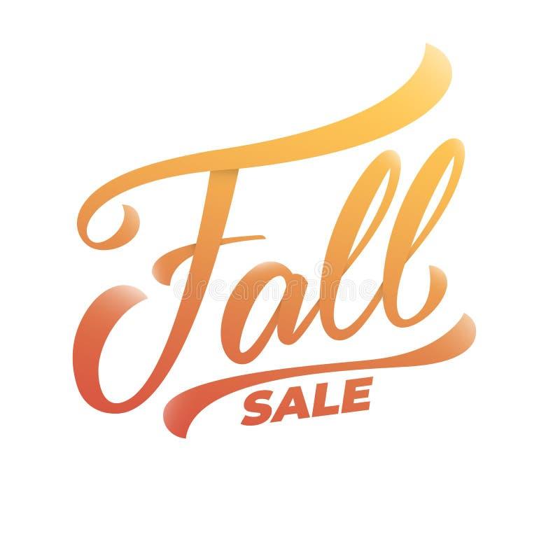 Fall-Verkauf Handbeschriftungskalligraphie Fallverkauf stock abbildung