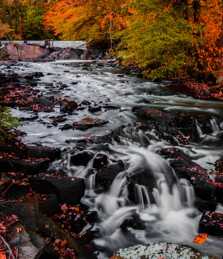 Fall and Waterfall stock photography