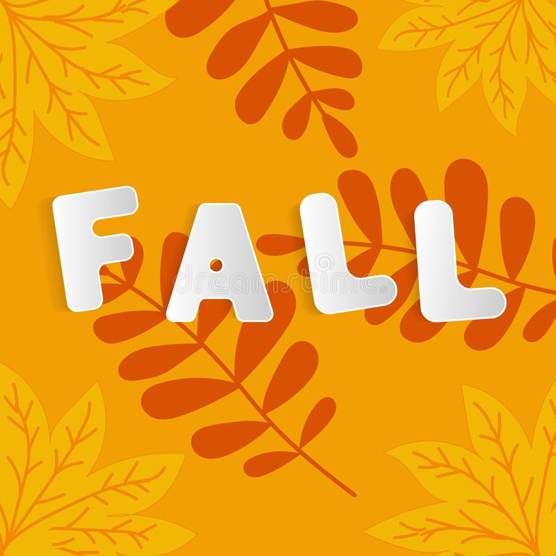 Fall for web advertising design. Autumn leaves fall background. Natural backdrop. Thanksgiving concept. Sign, symbol, element. Floral design element. Mid vector illustration