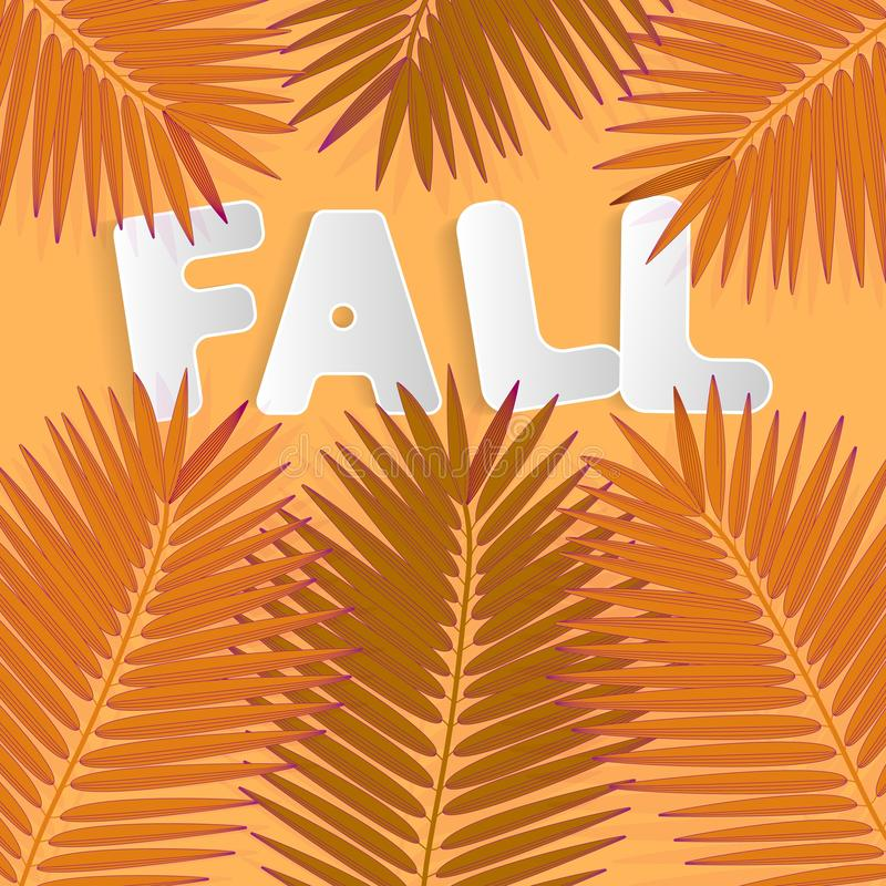 Fall for web advertising design. Autumn leaves fall background. Natural backdrop. Thanksgiving concept. Sign, symbol, element. Floral design element. Mid stock photo