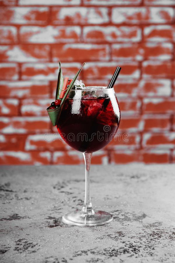 Fall and winter sangria with apples, oranges, pomegranate. stock photography